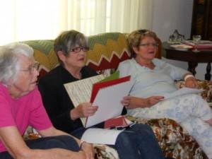 Virginia, Susan and Karen at scrapbooking party